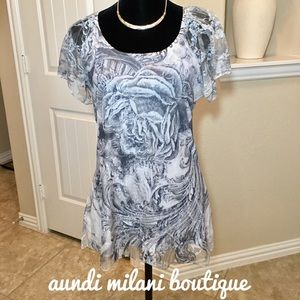 Dress Barn Tops - Short sleeve lace top
